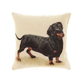 Gobelin cushion with dachshund pattern