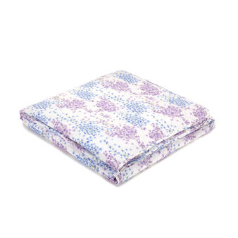 100% cotton percale floral light quilt