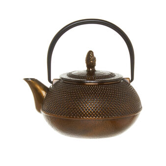 Speckled cast iron teapot