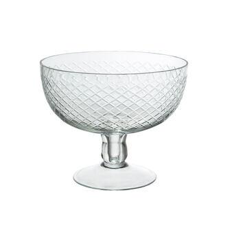 Ground glass dish