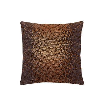 100% cotton cushion with bronze print