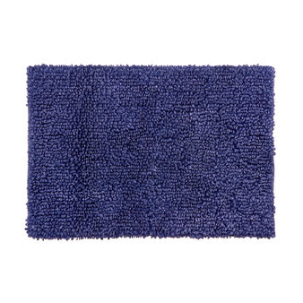 Bath mat in faded-effect cotton