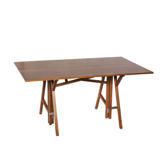 Lily folding console table in teak