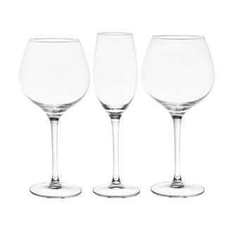 Set of 18 glass goblets