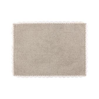 100% cotton bath mat with crochet edging