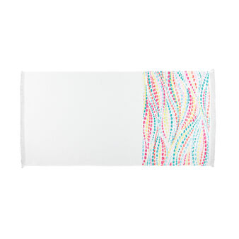 Stone washed beach towel in 100% cotton