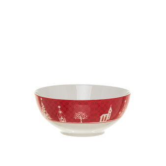 Ceramic salad bowl with Christmas decoration