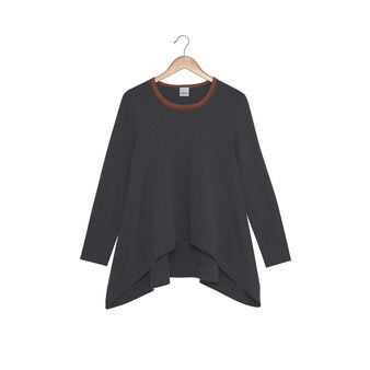 Bell-shaped wide-fit jumper