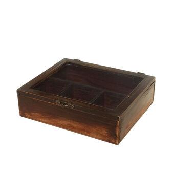 Scatola porta tè in legno
