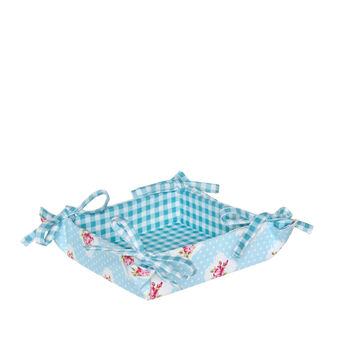 Reversible Rose and Polka Dots basket in 100% cotton