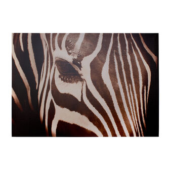 Canvas print with zebra detail