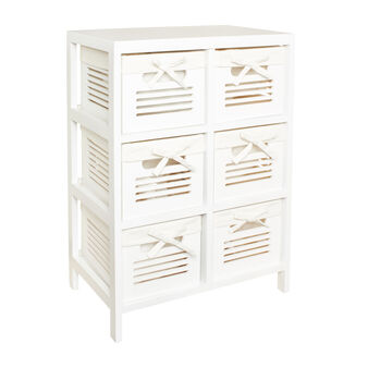 6-drawer wooden unit
