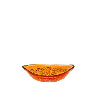 Small glass orange bowl