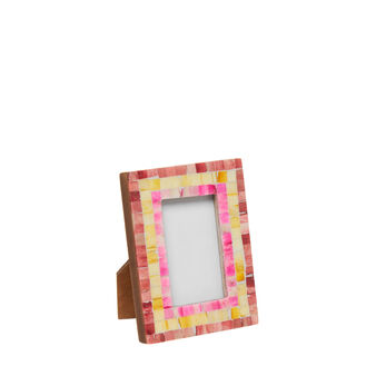 Bone photo frame with mosaic decoration