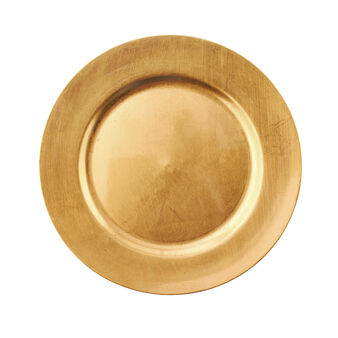 Gold-coloured charger plate
