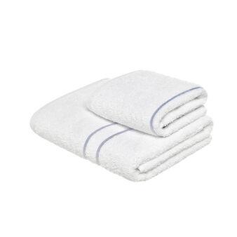 Set 2 asciugamani puro cotone stringa ricamata