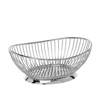Oval silver-plated basket