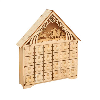 Advent calendar in balsa wood