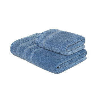 Denim-effect terry towel