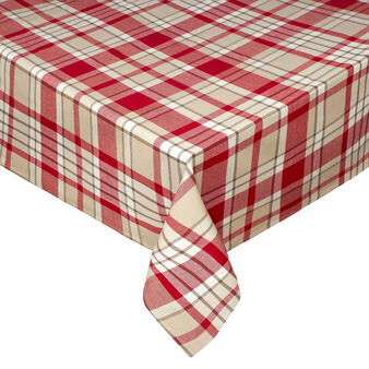 Tartan tablecloth in 100% yarn-dyed cotton