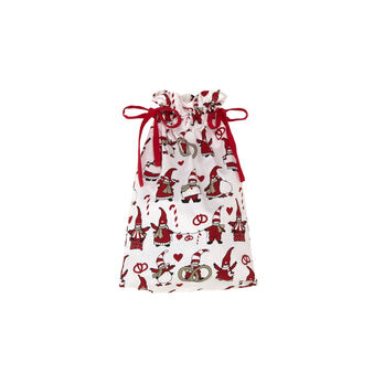 100% cotton gift sack with Gnomes print