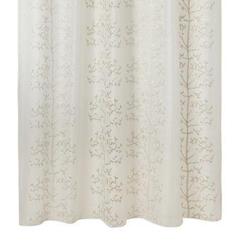 Curtain with appliqué design