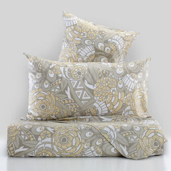 100% cotton percale bed linen set with kaleidoscope print