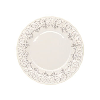 Isabel ceramic dinner plate with floral rim