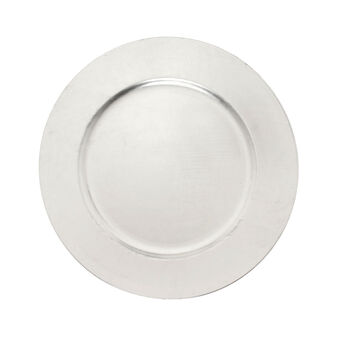 Charger plate in silver plastic