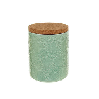 Ceramic container with cork lid
