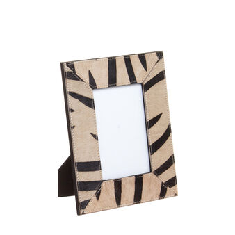 Photo holders in leather with zebra effect
