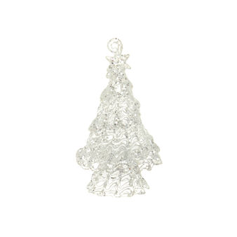 Glass Christmas tree H 10 cm