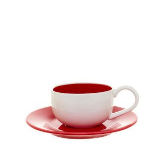 Tazza da colazione in ceramica bicolore