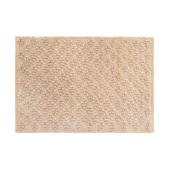 Tappeto bagno in cotone effetto pop corn
