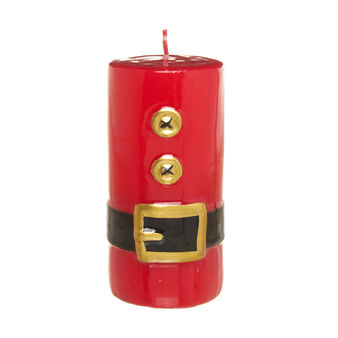 Cylindrical candle with Father Christmas' belt