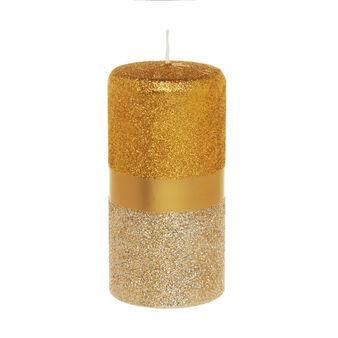 Candela cilindrica glitterata
