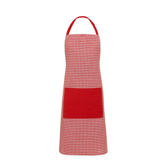 Bib apron in yarn-dyed 100% cotton.