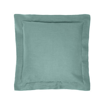 Overlock  linen cushion