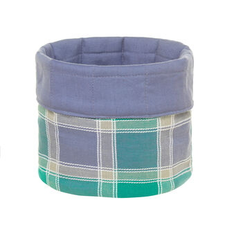 Round yarn-dyed check basket