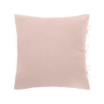 Cotton cushion with laces