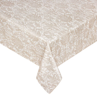 Printed damask cotton tablecloth