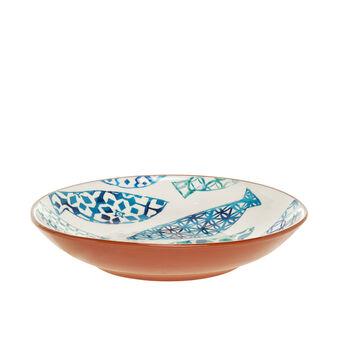Portuguese ceramic centrepiece with fish