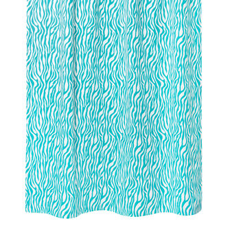 Animal print cotton curtain