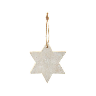 Wooden star Christmas decoration D 9 cm