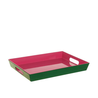 Two-tone plastic tray