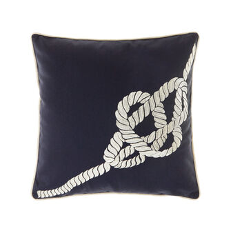 100% cotton cushion with nautical embroidery