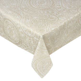 Antoine tablecloth in linen and cotton jacquard