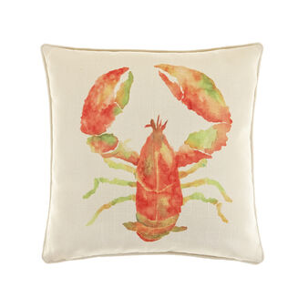 Cushion with lobster print