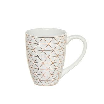 Ceramic mug with geometric decoration