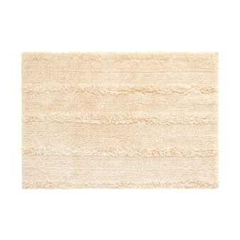 Shaggy cotton bath mat